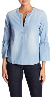 J.Crew J. Crew Chambray Bell Sleeve Top