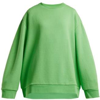Raey Crew Neck Japanese Jersey Sweatshirt - Womens - Green