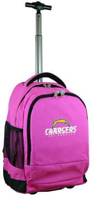 Denco NFL Los Angeles Chargers Wheeled Premium Backpack In Pink