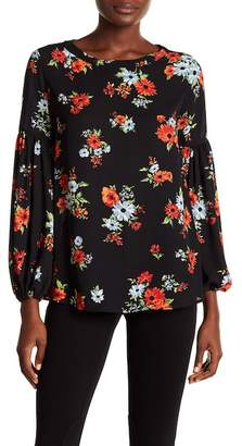 Philosophy Apparel Floral Flare Sleeve Blouse