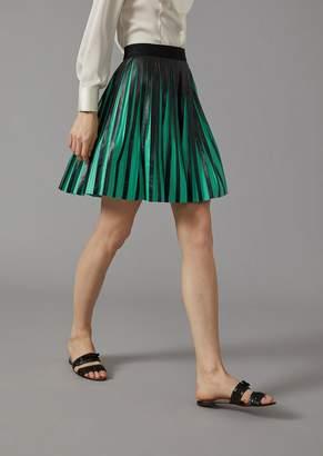 Giorgio Armani Pleated Nappa Skirt