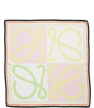 Loewe Monogram Colorblock Square Scarf