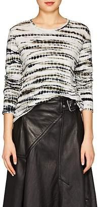 Proenza Schouler Women's Tie-Dyed Cotton T-Shirt - Grn. Pat.