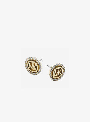 Michael Kors Logo Gold-Tone Stud Earrings