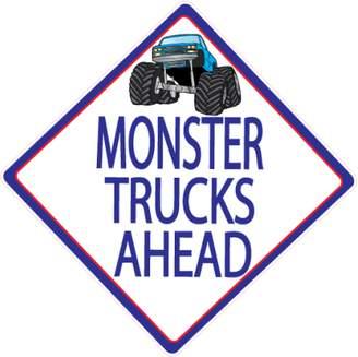 Presto Chango Decor Monster Truck Wall Decals / Street Sign Wall Decals / Monster Trucks Ahead / Truck Wall Stickers