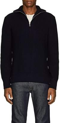 Officine Generale Men's Merino Wool Half-Zip Sweater