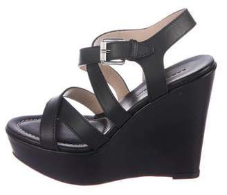 Barbara Bui Leather Wedges Sandals