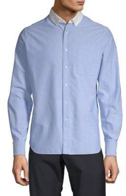 Valentino Graphic Back Cotton Button-Down Shirt