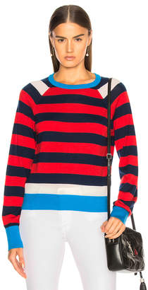 Equipment Axel Cropped Striped Sweater