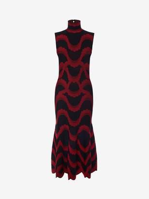 Alexander McQueen Jacquard Knit Mini Dress