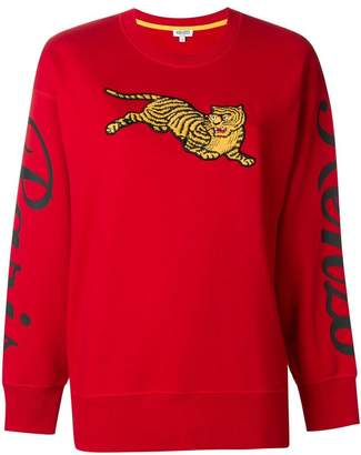 Kenzo Tiger logo knit sweater