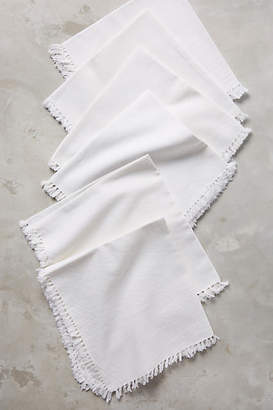Anthropologie Fringed Cotton Napkin Set