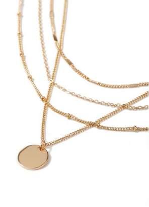 Topman Mens Gold Multirow Necklace*