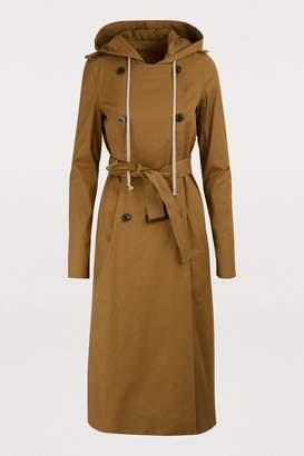 Rick Owens Hooded trench coat