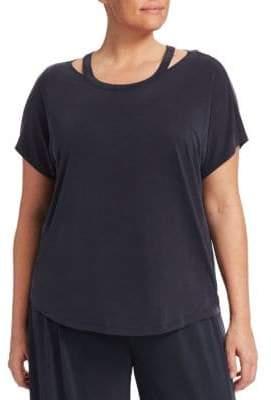 Nic+Zoe Plus Plus Strappy Short-Sleeve Top