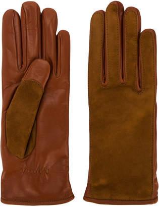Lanvin contrast finish driving gloves