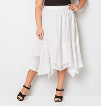 Avenue Mixed Texture Handkerchief Skirt