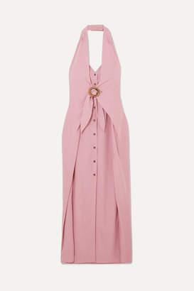 Nanushka Liya Halterneck Lyocell-blend Dress - Pink