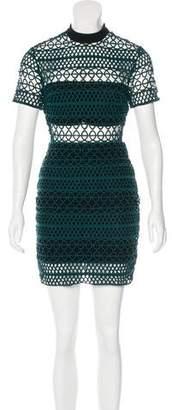 Self-Portrait Crochet Sheath Dress