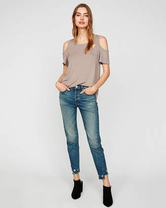 Express One Eleven Spliced Colder Shoulder Tee