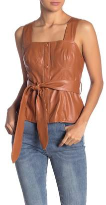 Love + Harmony Faux Leather Sleeveless Top