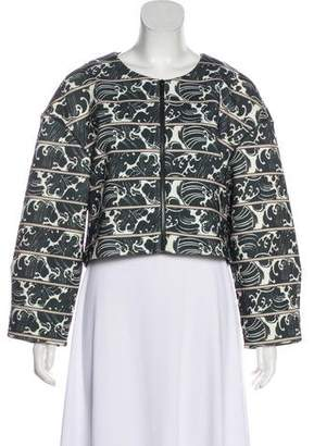 Elizabeth and James Printed Cropped Jacket