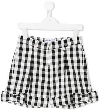 Simonetta bow checked shorts