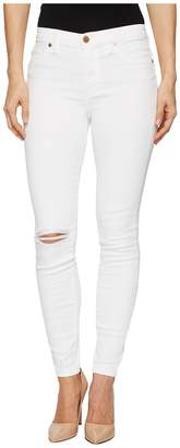 Blank NYC Mid-Rise Distressed Skinny in Great White Women's Casual Pants