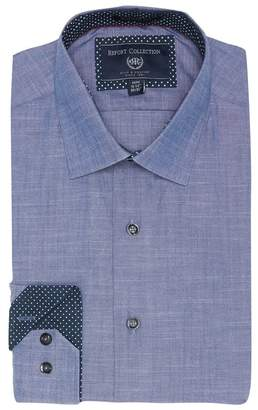 Report Collection Slub Modern Fit Dress Shirt