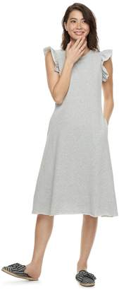 K Lab k/lab Ruffled A-Line Sweatshirt Dress