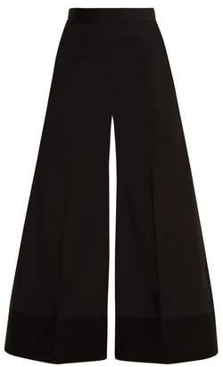 Mizuki Racil Wide Leg Wool Trousers - Womens - Black