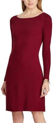 Chaps Women's Pointelle-Knit Sheath Dress