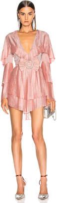 Raisa&Vanessa RAISA&VANESSA Ribbon Belted Mini Dress in Pink | FWRD