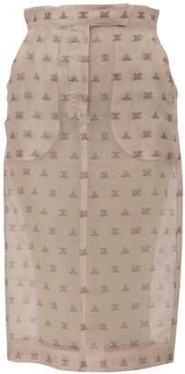 Max Mara Silk Organza Skirt