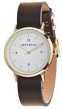 Tokyobay Tokyo Bay T394-GR Women's Stainless Steel Tow-Tone Band White Dial Watch