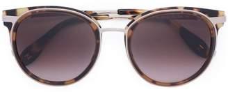 Carolina Herrera tortoise shell round sunglasses