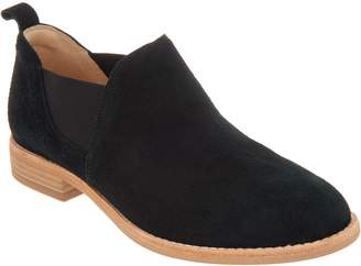 Clarks Leather Slip-on Booties - Edenvale Page