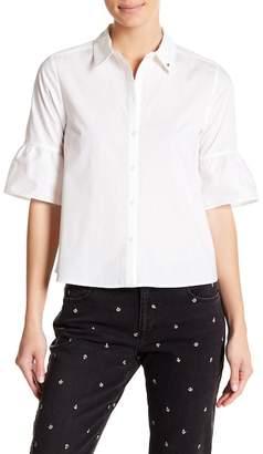 Scotch & Soda Flutter Short Sleeve Button Down Shirt