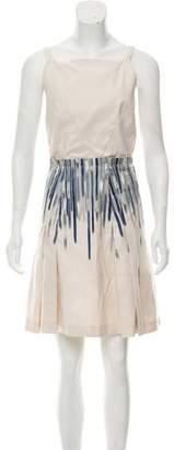 Malo Pleated Mini Dress