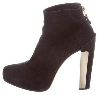 Brian Atwood Suede Ankle Boots