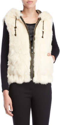 BCBGMAXAZRIA Reversible Real Fur Vest