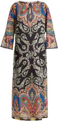 Etro Paisley-print tie-neck cotton kaftan