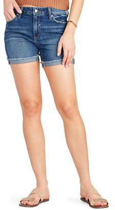 Joe's Jeans Frayed Denim Bermuda Shorts