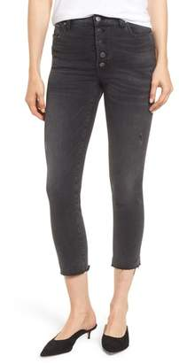 KUT from the Kloth Reese Button Fly Raw Hem Skinny Jeans