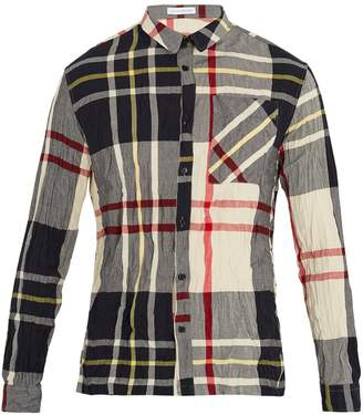 J.W.Anderson Checked crinkled shirt