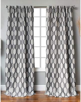 Distinctly Home Back Tab Linen-Blend Window Panel
