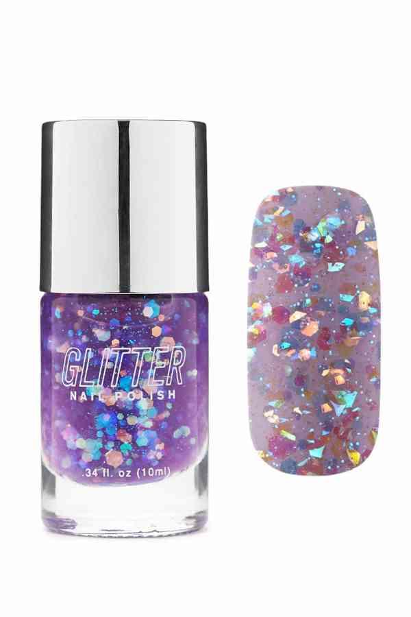 Forever 21 Glitter Purple Nail Polish