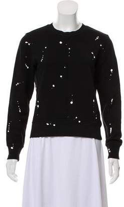 Rag & Bone Paint Splatter Knit Sweatshirt