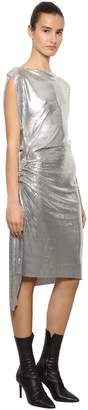 Paco Rabanne Draped Metal Mesh Midi Dress