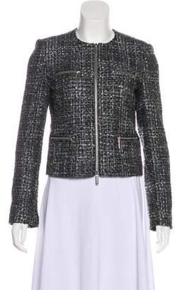 MICHAEL Michael Kors Tweed Zip Jacket